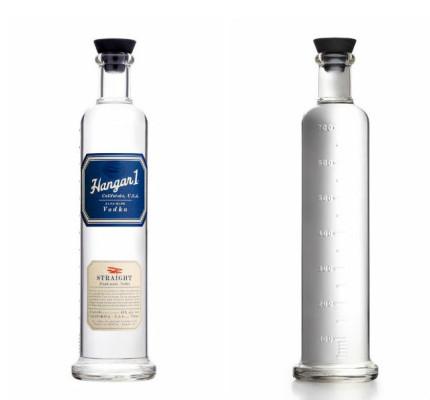 Botella de Hangar 1 Vodka. // Foto: Especial