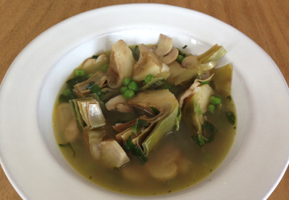Sopa-de-alcachofa