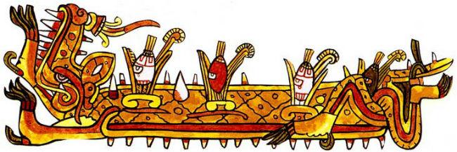 Cipactli era un monstruo marino mitad pez mitad cocodrilo; con su cuerpo muerto se creó la tierra y el cielo. // Imagen: Especial