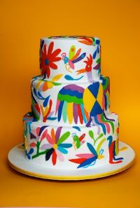 Para decorar este pastel inspirado en los tenangos hidalguenses tardaron 16 horas. // Foto: Moxy.