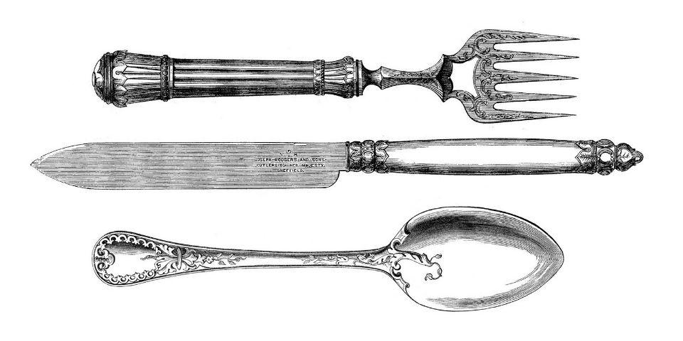 Tres Grandes Inventos Cuchara Cuchillo Y Tenedor