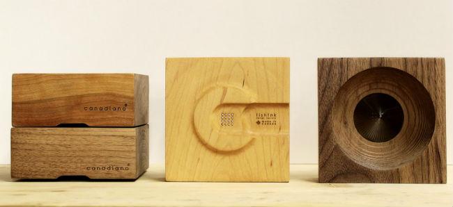 Canadiano se elabora en tres distintas maderas: cerezo, nogal y maple. // Foto: Especial.