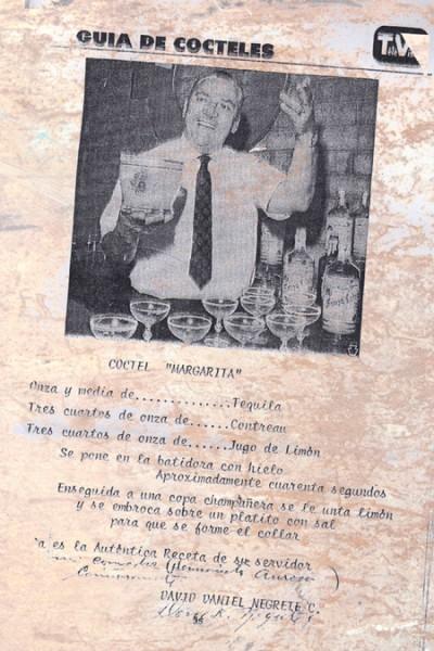 La receta original de La Margarita.