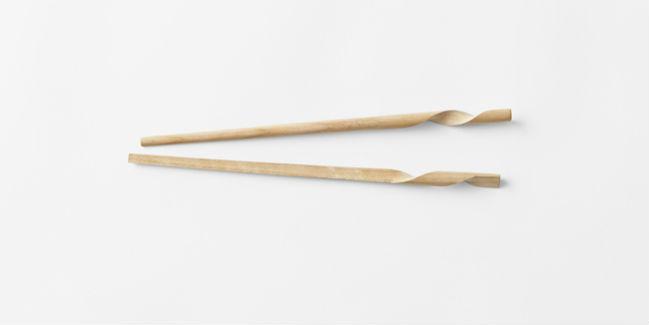 Los palillos en espiral fueron creados por la firma japonesa de diseño // Foto: