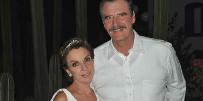 """Vicente Fox se caso por la iglesia en 2009 con Marta Sahagún, una """"muy buena cocinera"""" de acuerdo con el expresidente. // Foto: Centro Fox."""