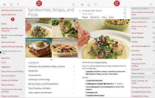 La aplicacción incluye recetas, tablas de conversión, cronómetros para horno y más herramientas. // Foto: Especial.