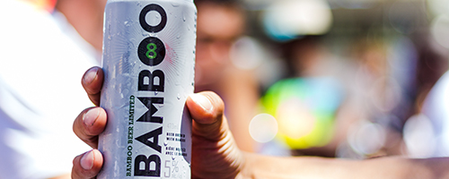 La 'Bamboo beer' es una cerveza sustentable hecha con malta y lúpulo, además de bambú.