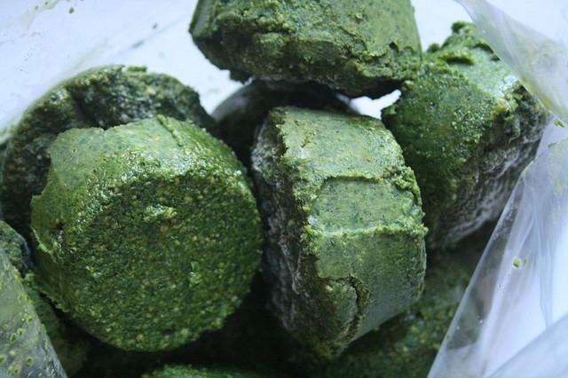 También puedes preparar el pesto como siempre y congelarlo. // Foto: The Bitten Word (Creative Commons).