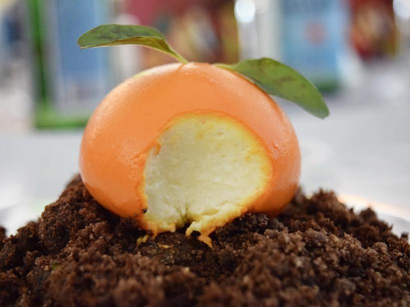 Éste es el original cheesecake de mandarina. // Foto: @Mayra_Zepeda