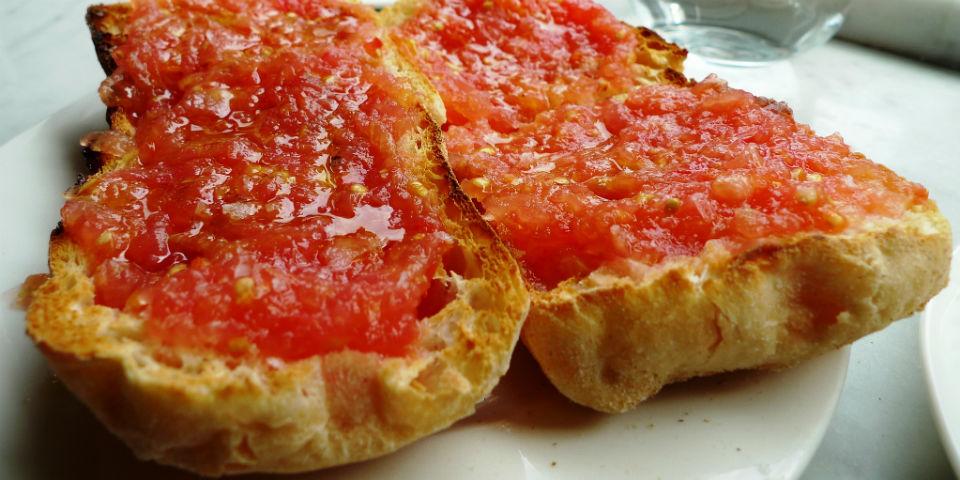 pan con tomate receta