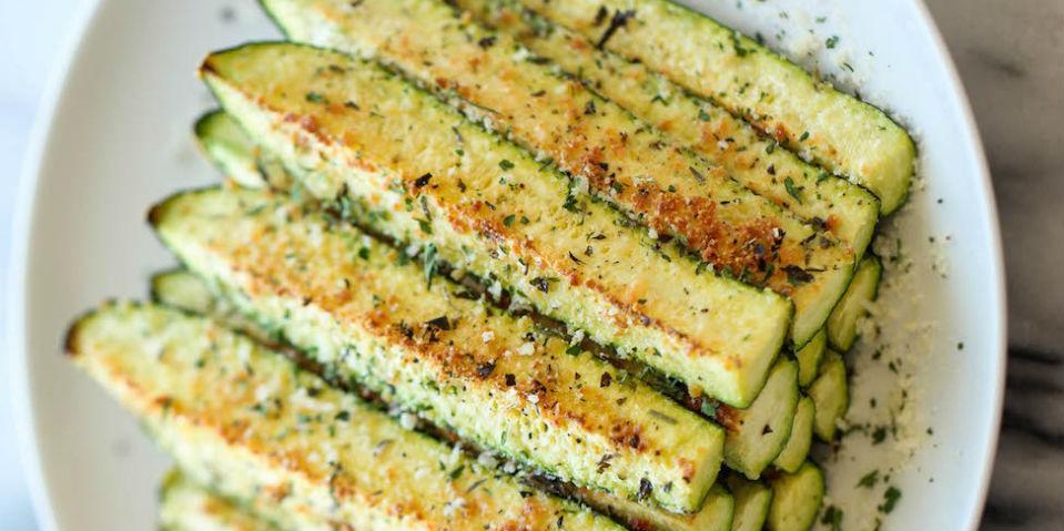 calabacitas horneadas con parmesano