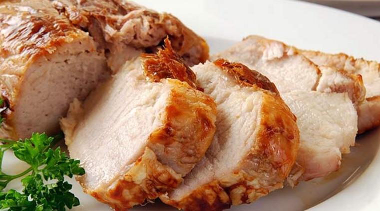 #RECETA Jugoso lomo de cerdo con salsa de moras