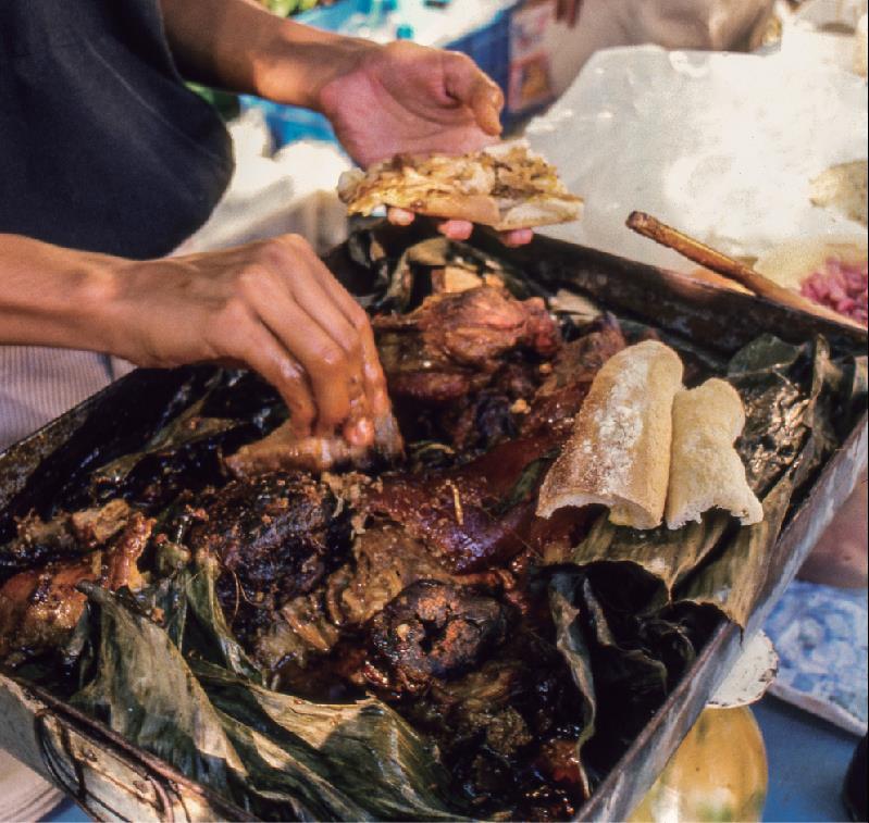 #CocinerasTradicionales Machaca de Baja California Sur y lechón horneado de Campeche