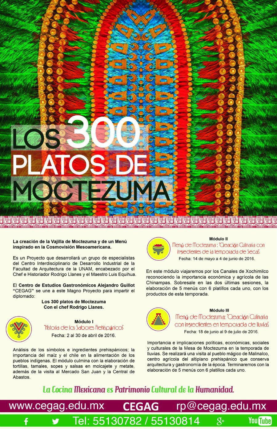 300 platos de moctezuma