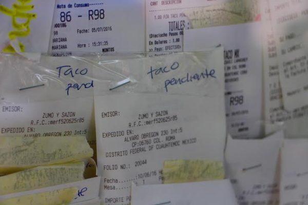 Taco pendiente