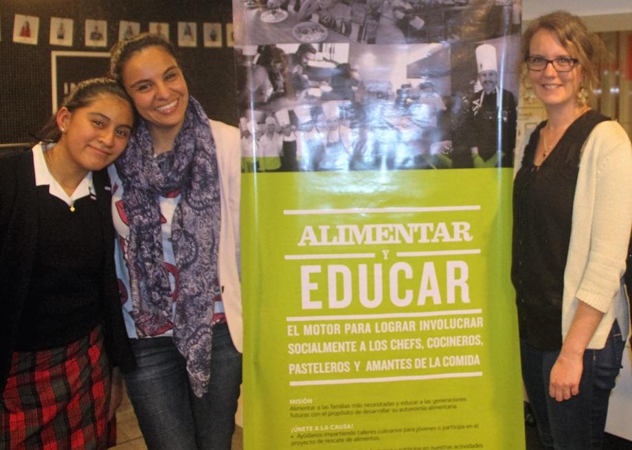 Marisol, Anaís Salgado, Asistente General y Florence Roy-Allard, Directora General de La Tablée des Chefs.// Foto: Roxana Zepeda.