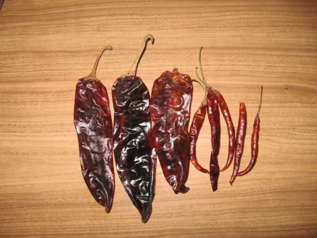 Chiles secos.//Foto: Wikimedia Commons.