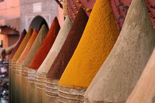 Especias de Marruecos. //Foto: Wikimedia Commons.