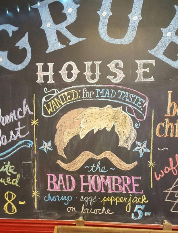 Menú del día de Grubhouse. Foto de la página de Facebook de Grubhouse.