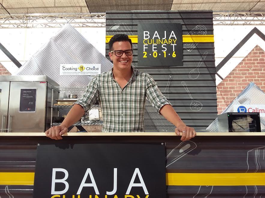 Ruffo Ibarra durante el Baja Culinary Fest 2016. // Foto: Nadia Luna.