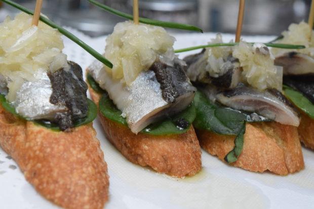Pintxos de sardina. //Foto: Roxana Zepeda.