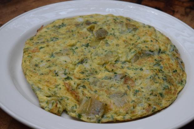 Tortilla de patatas con bacalao estilo Roxario. //Foto: Roxana Zepeda.