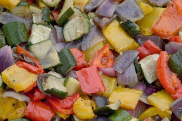 Verduras marinadas y asadas