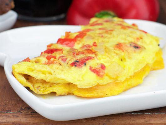 omelette de pimientos