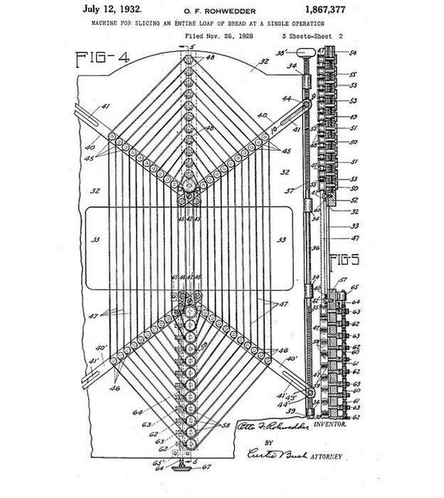 industrial, con cuchillas que subían y bajaban. Esta es la patente que le otorgaron en 1932.