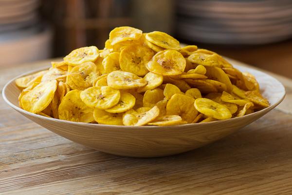 chips vegetales plátano