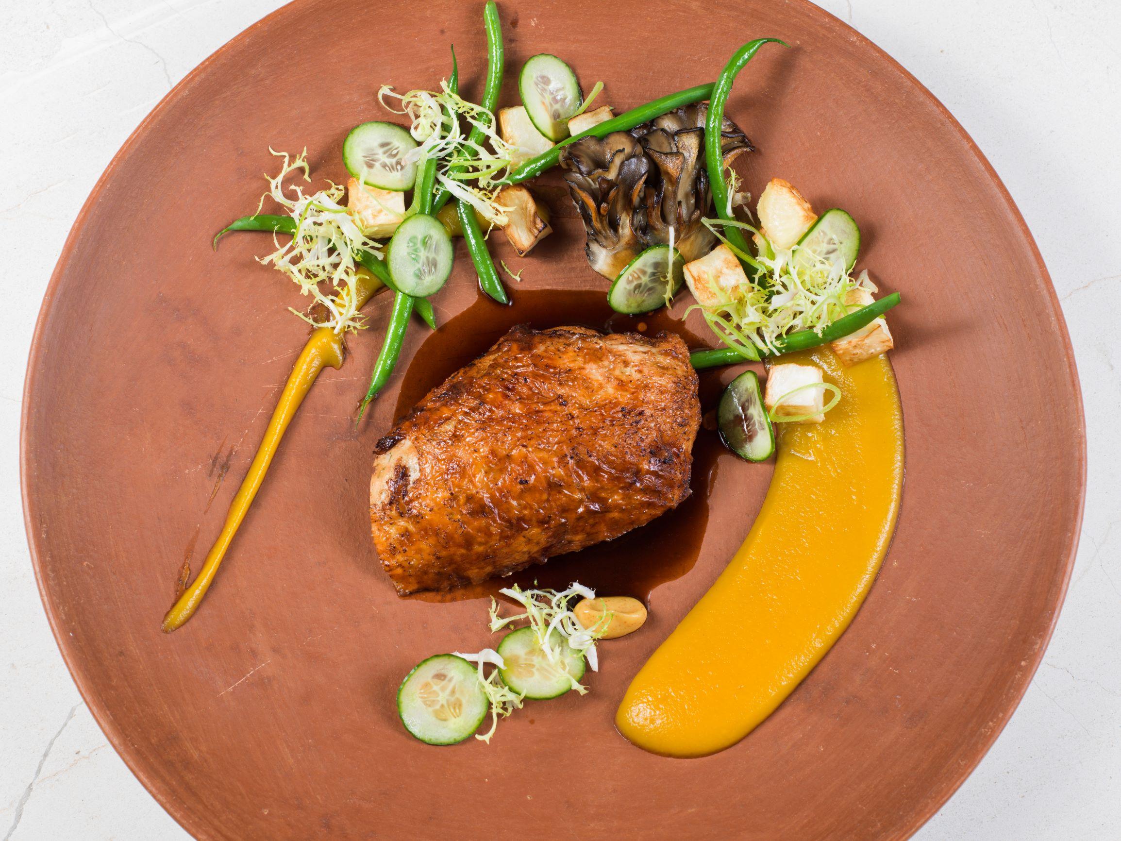 Pollo rostizado en Comal