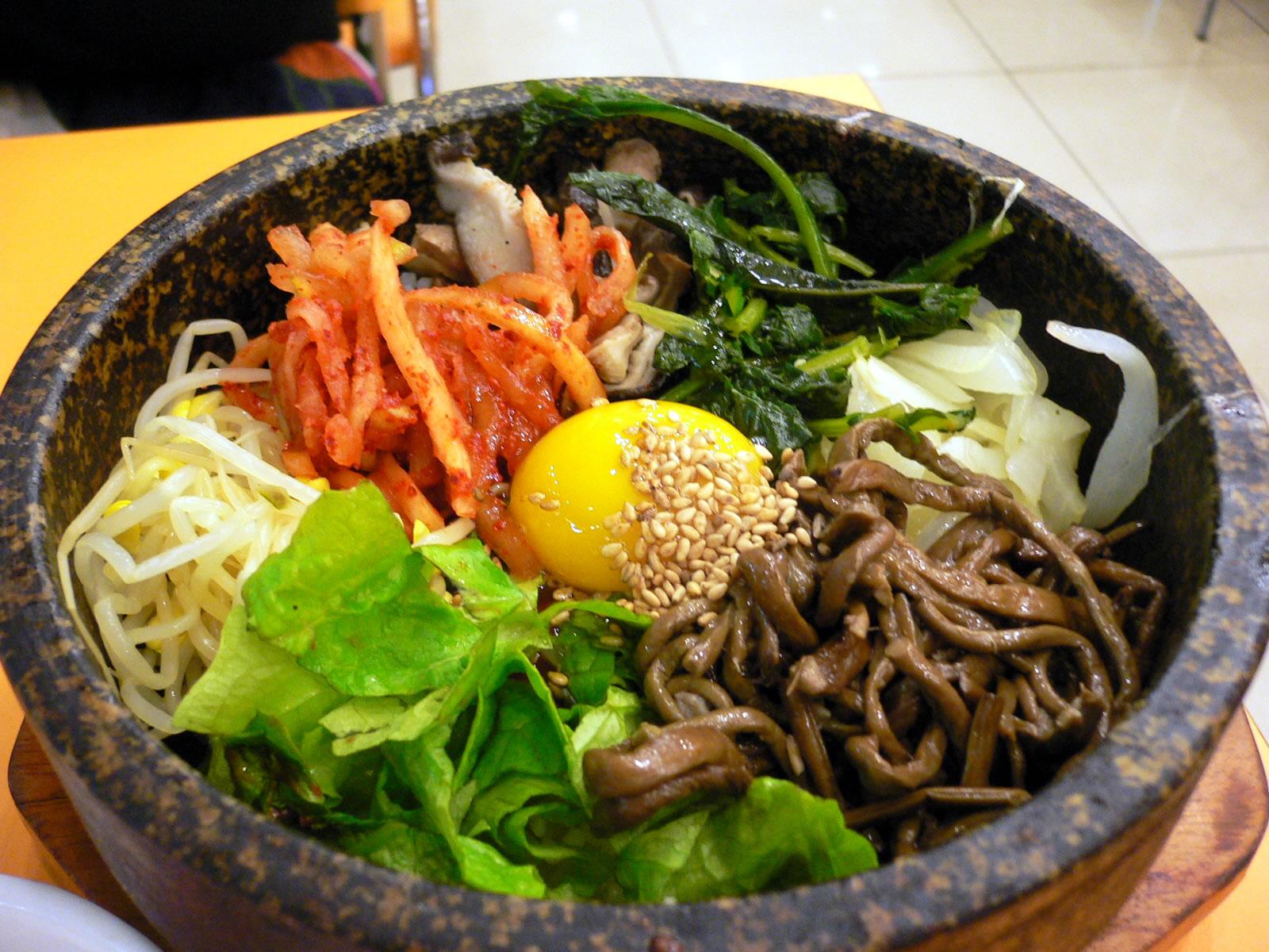 Bibimbap comida coreana