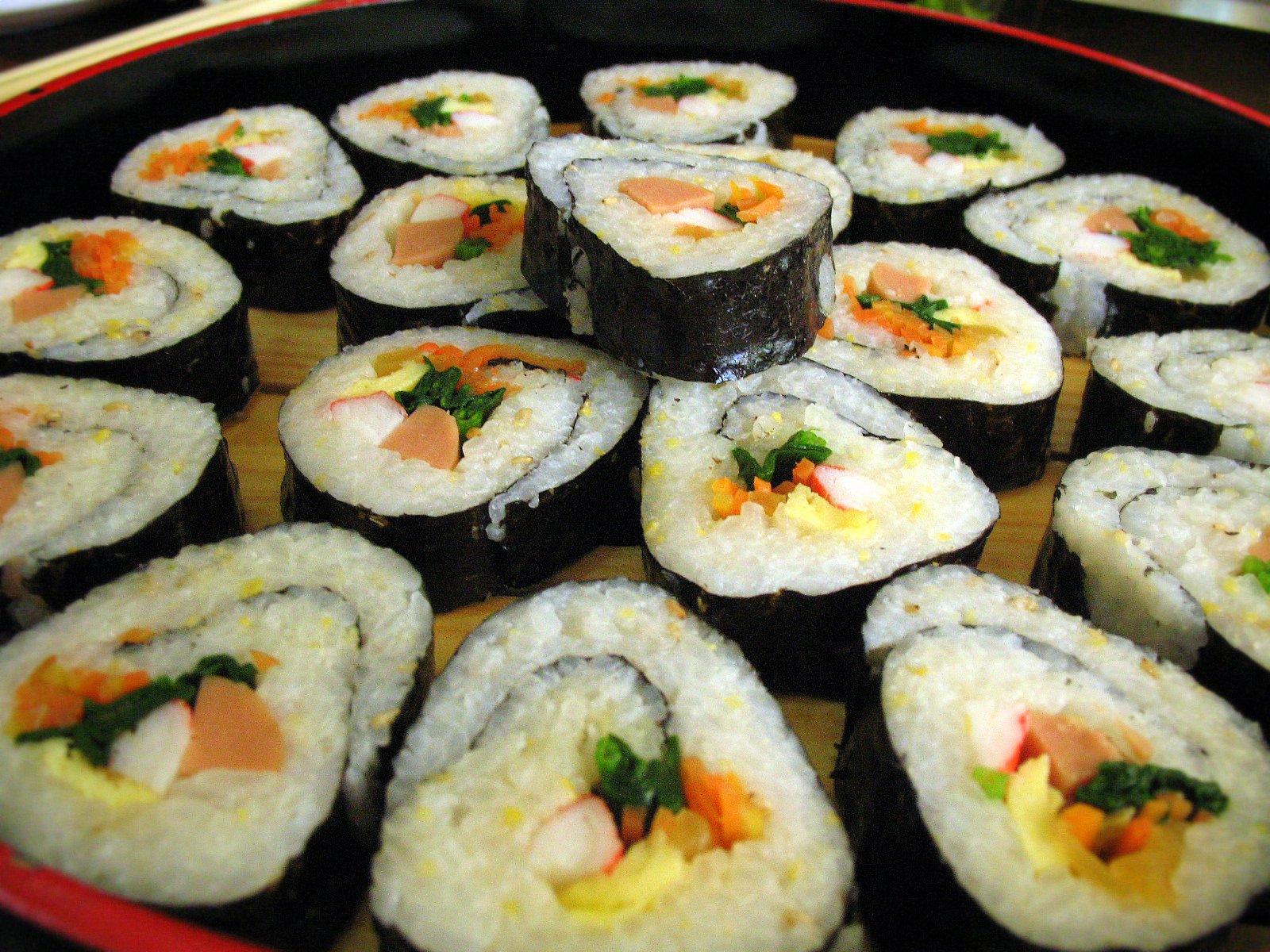 kimbap comida coreana