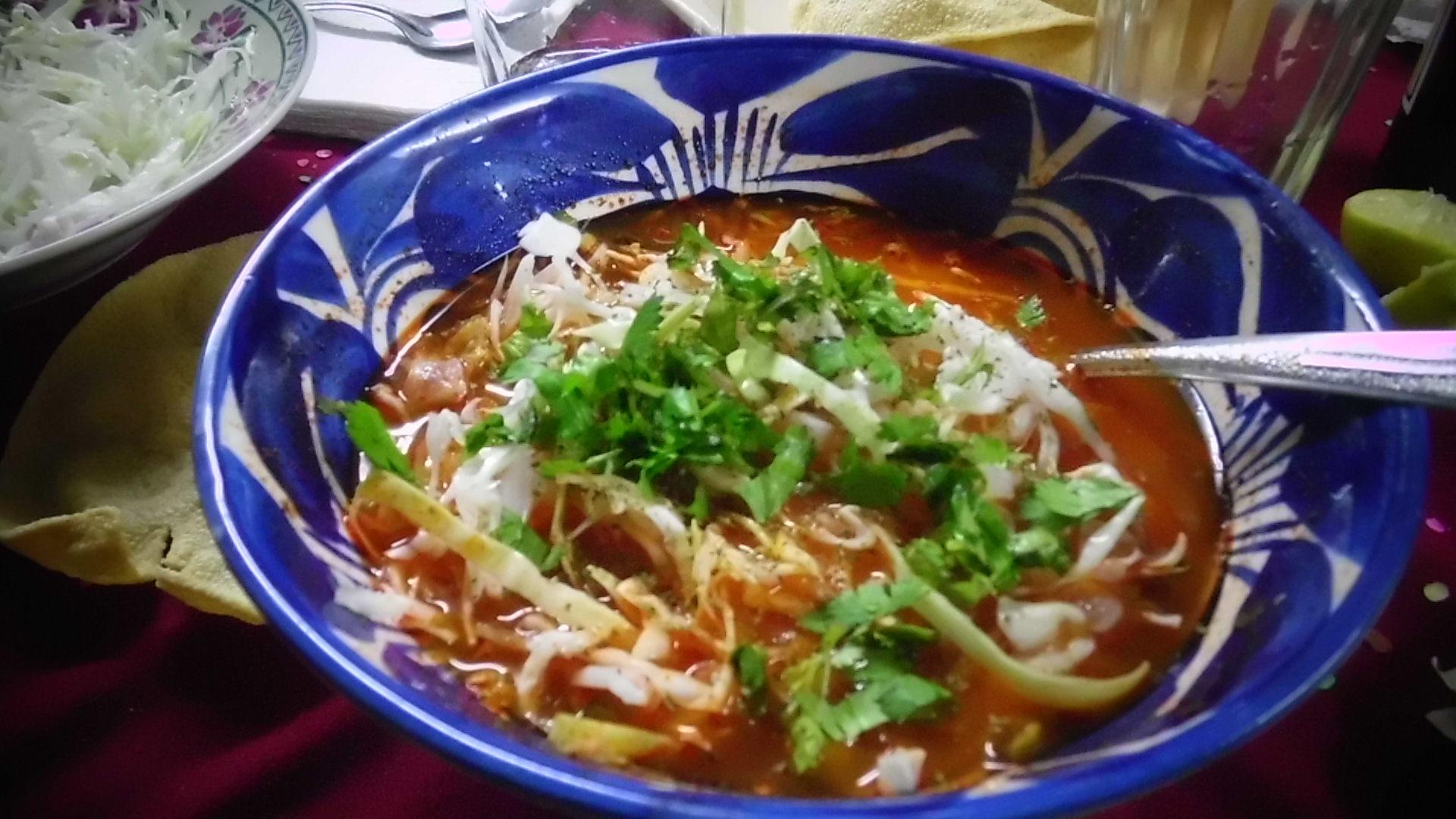 Pozole rojo, comida de Jalisco