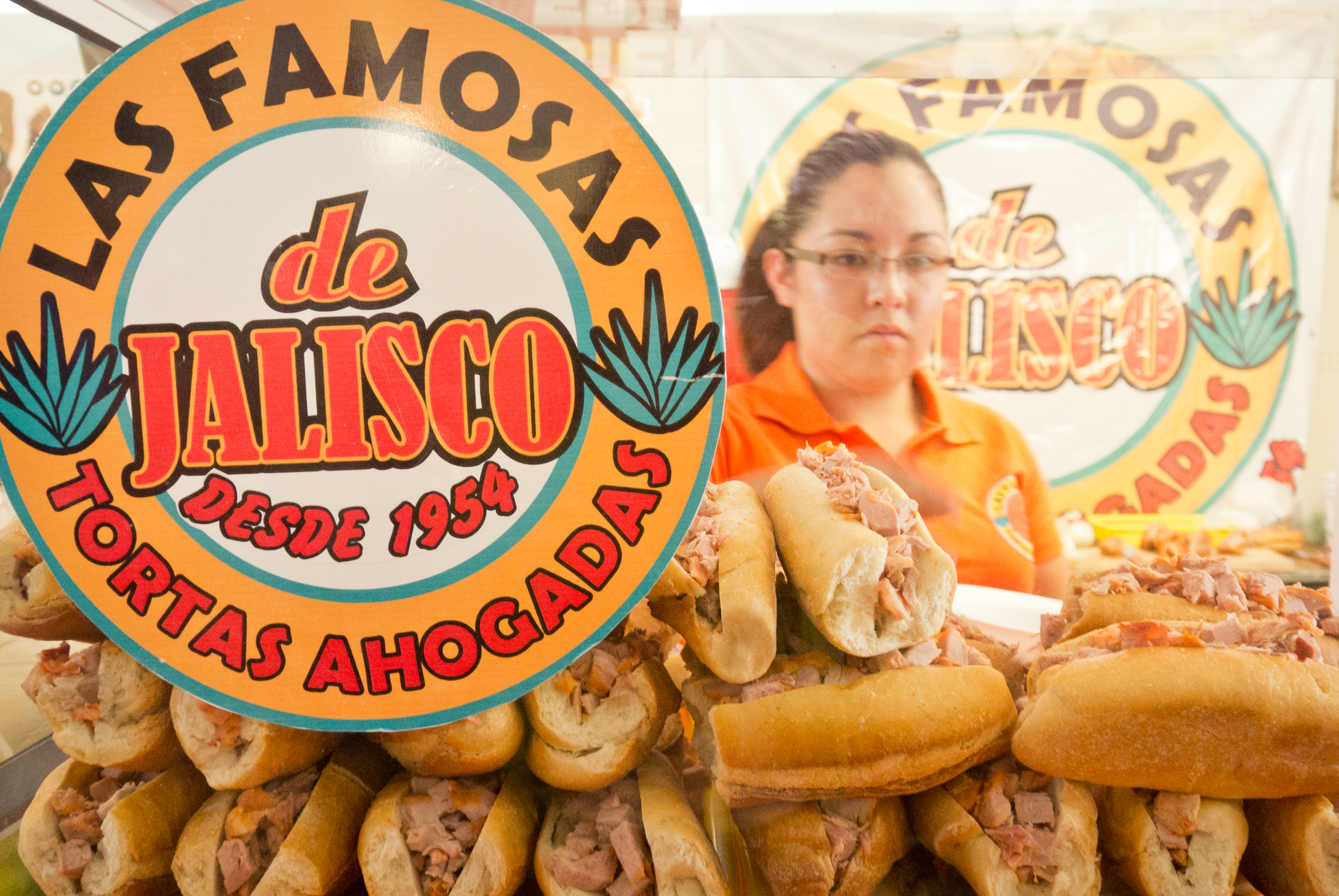 Tortas ahogadas, comida de Jalisco.