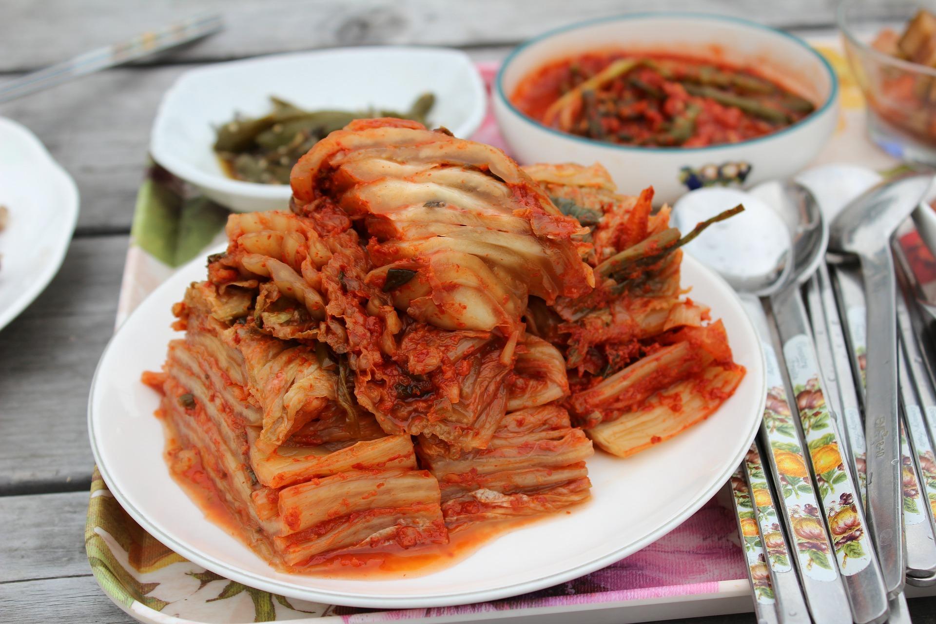 Kimchi en la comida coreana