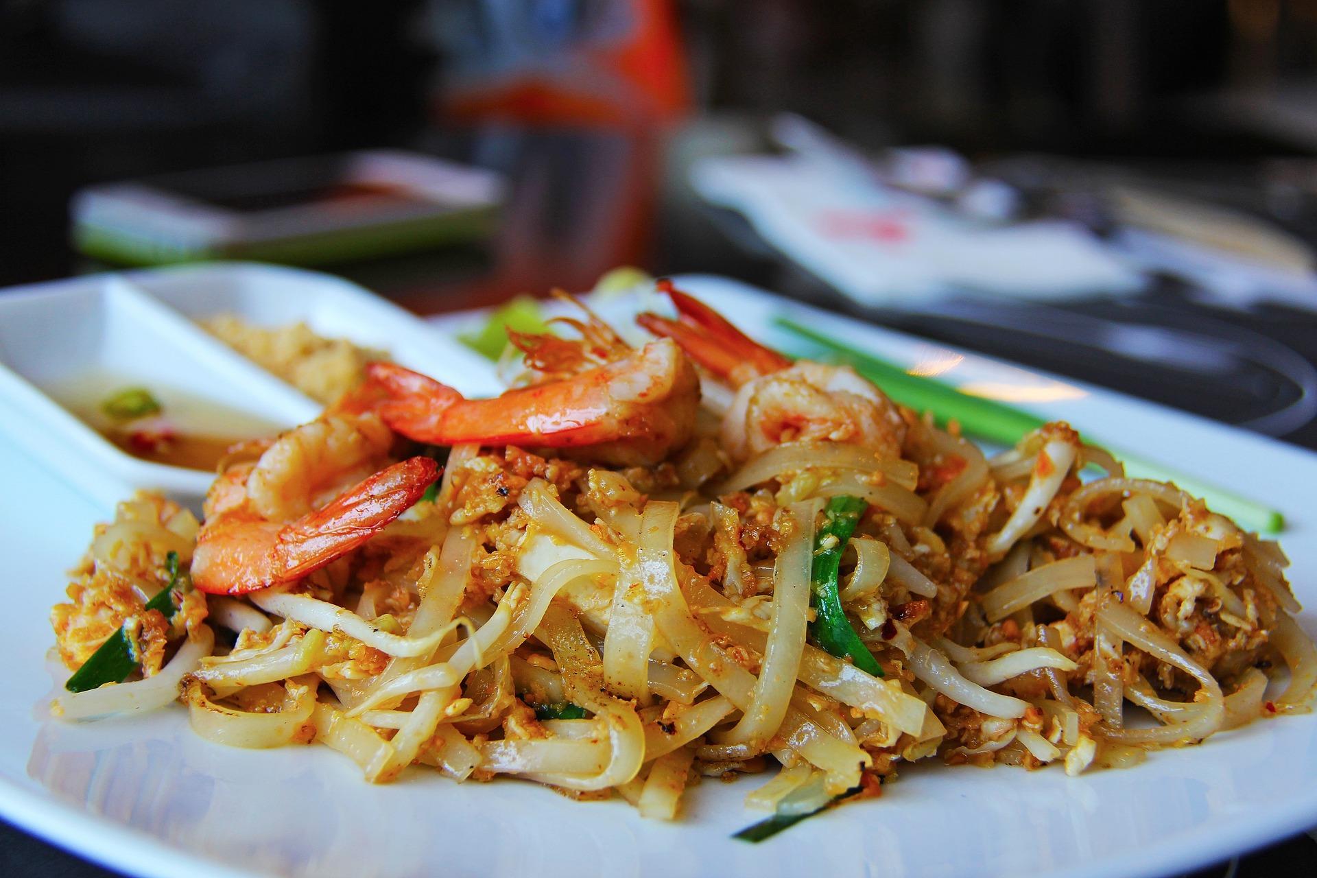 Pad thai de la cocina tailandesa