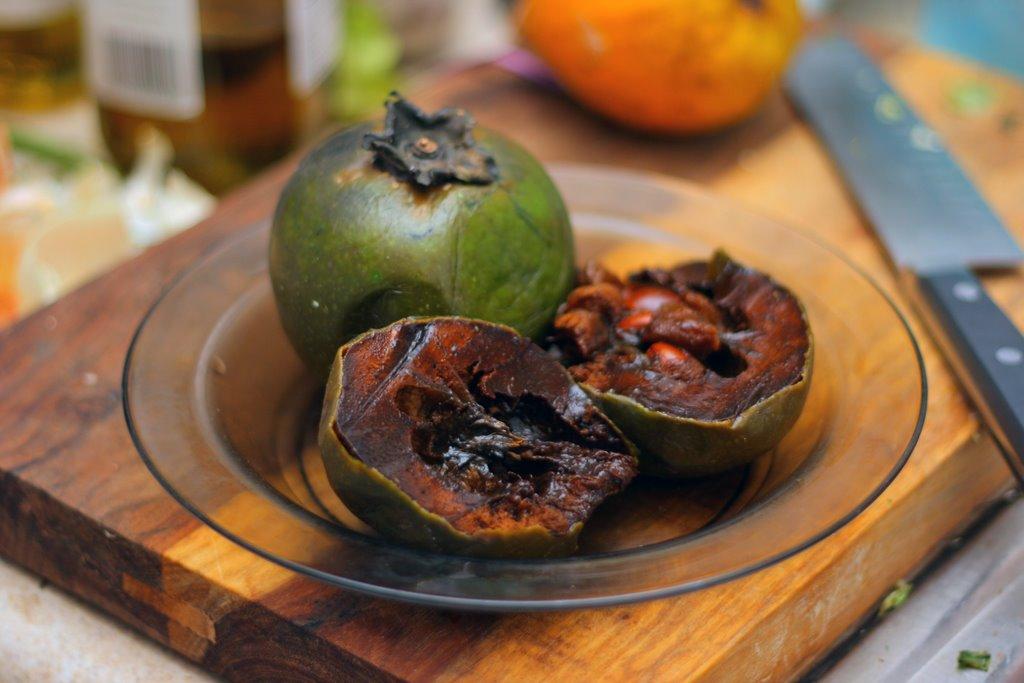 Frutas mexicanas. Zapote negro