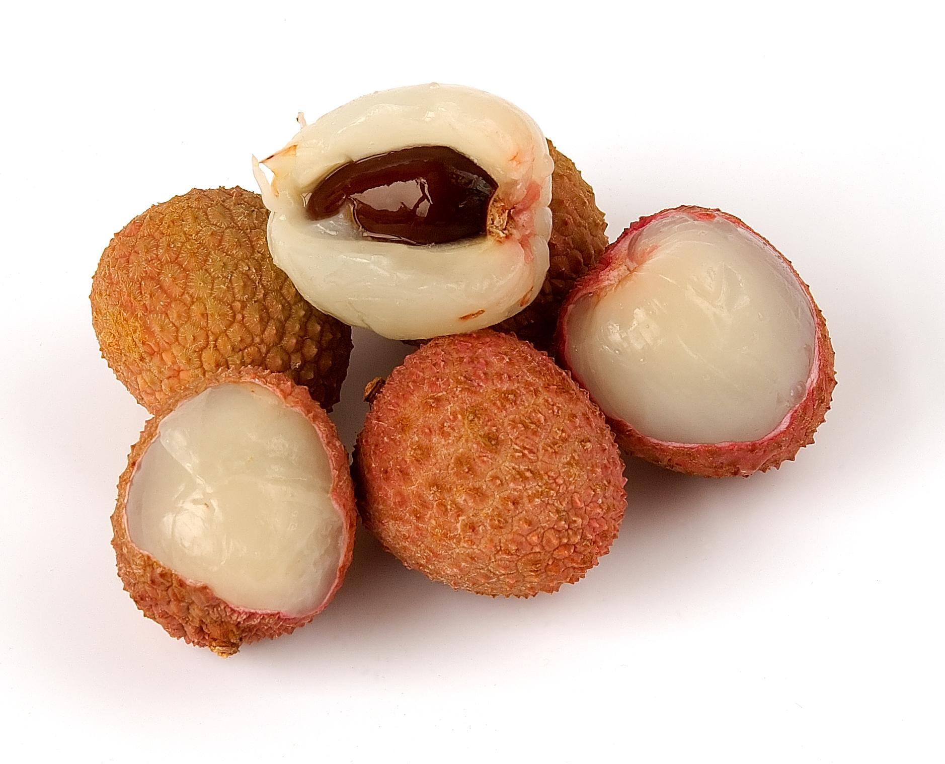 La litchi es una de las frutas exóticas que se encuentran en México.