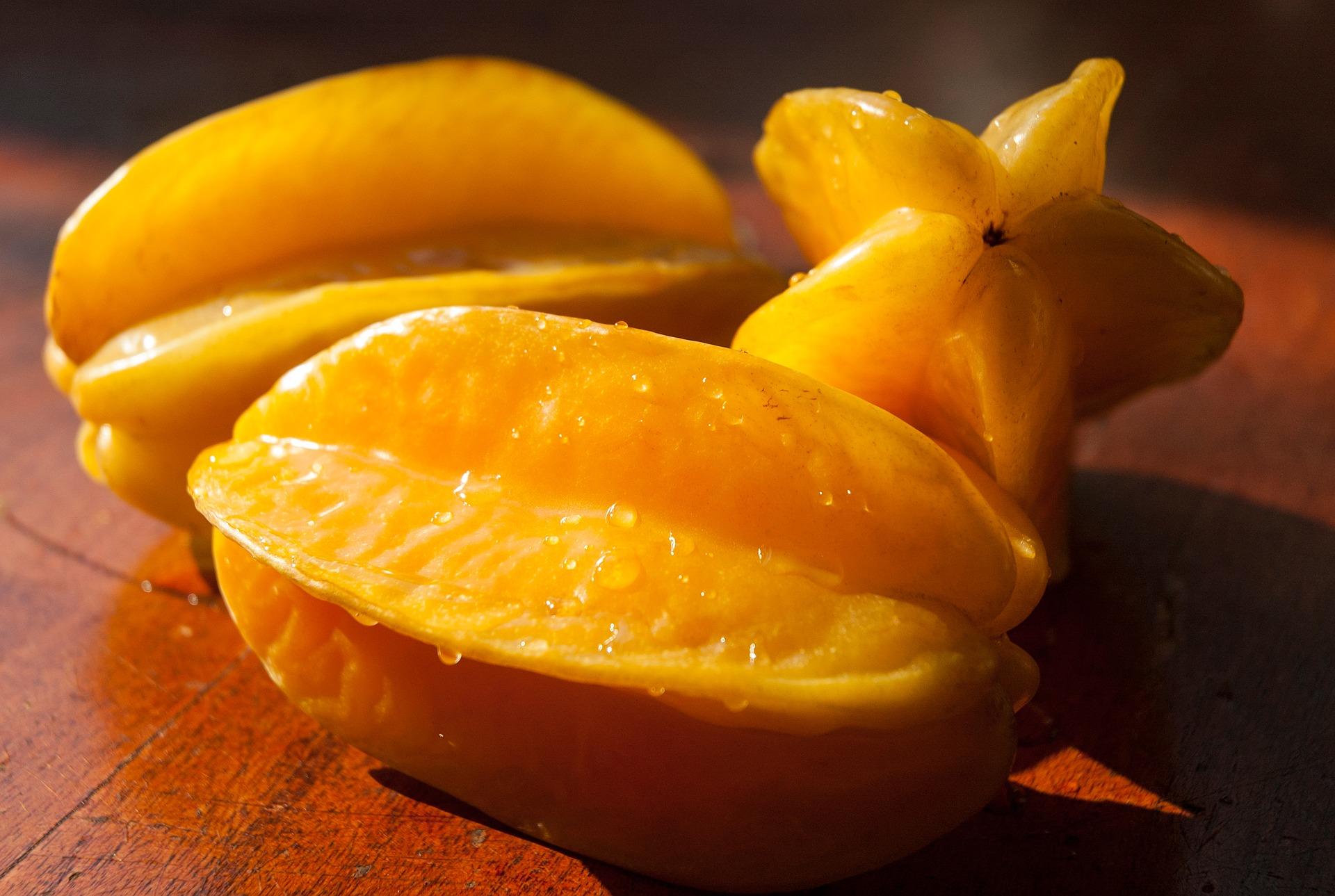 La carambola o fruta estrella es una de las frutas exóticas de México.