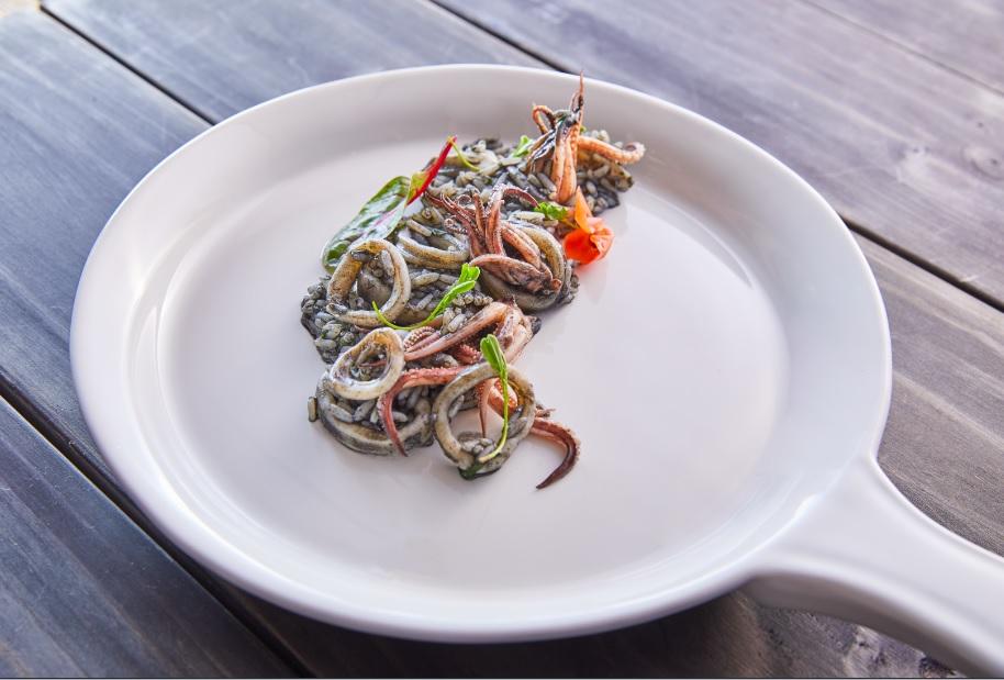 receta de arroz negro con calamar