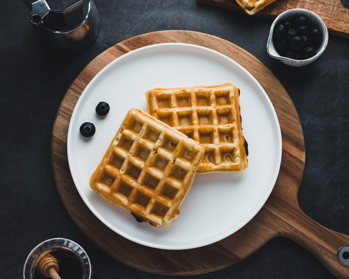 como preparar waffles