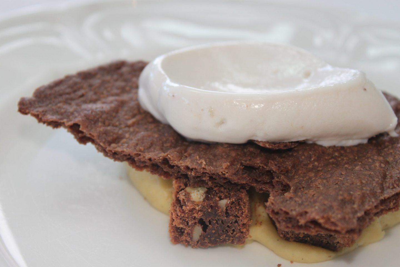 postre de plátano y chocolate maribel aldaco