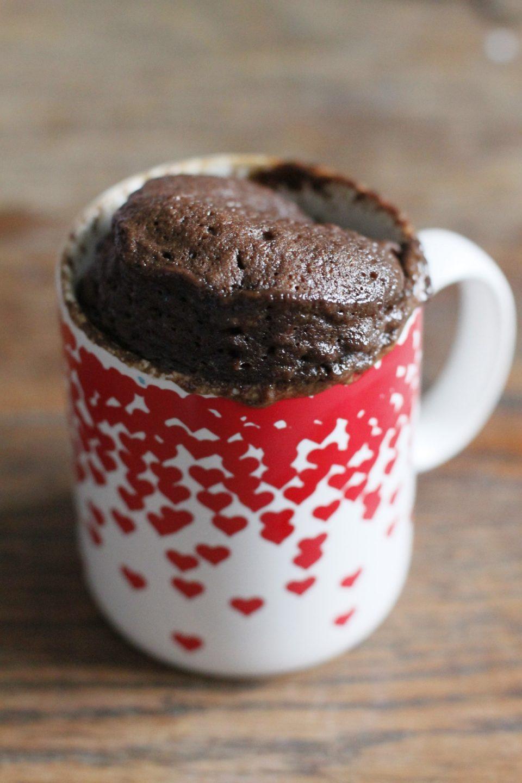 pastel en taza mugcake receta