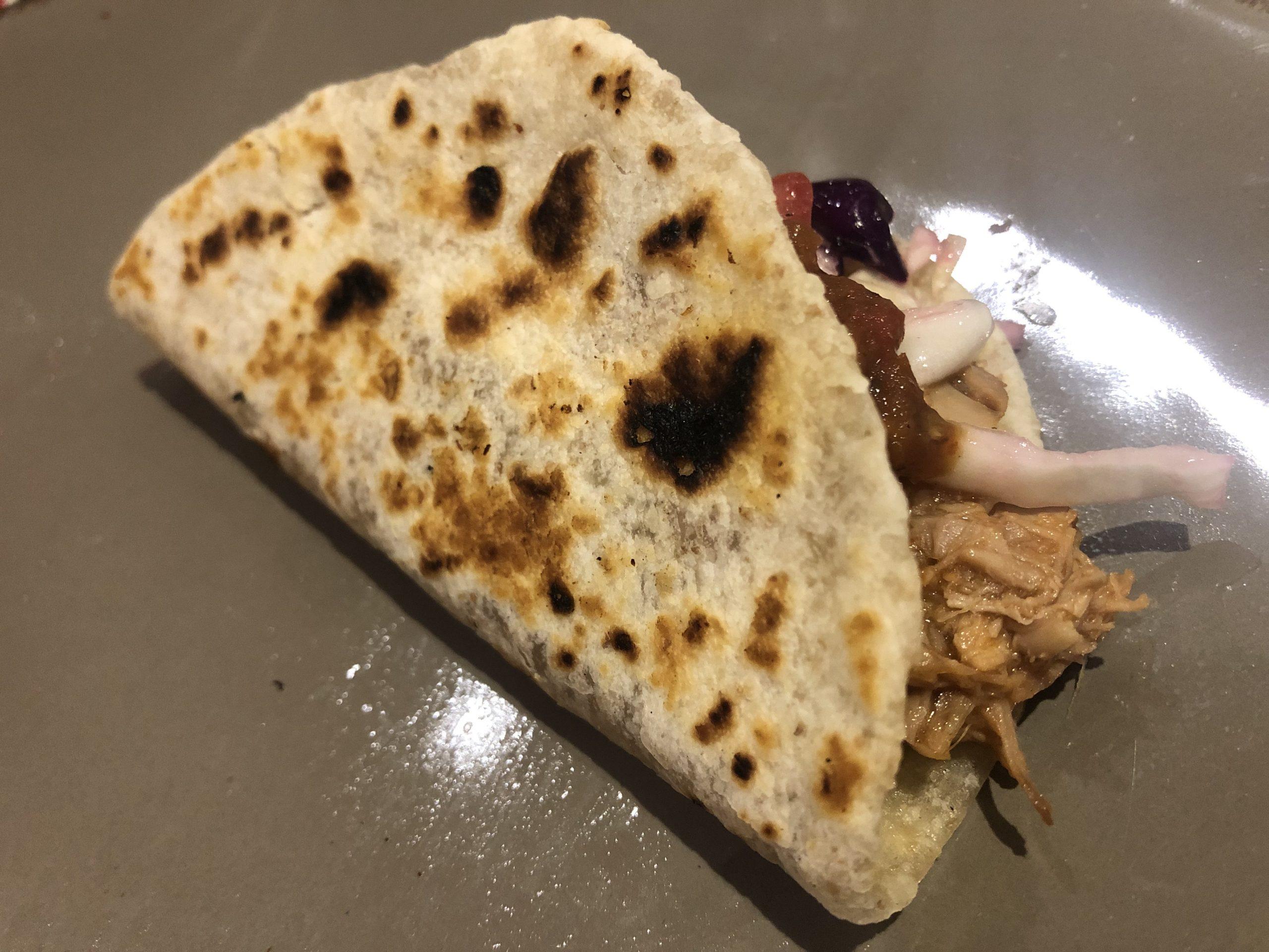 taco tortilla de harina con cabrito Juan Ramón Cárdenas